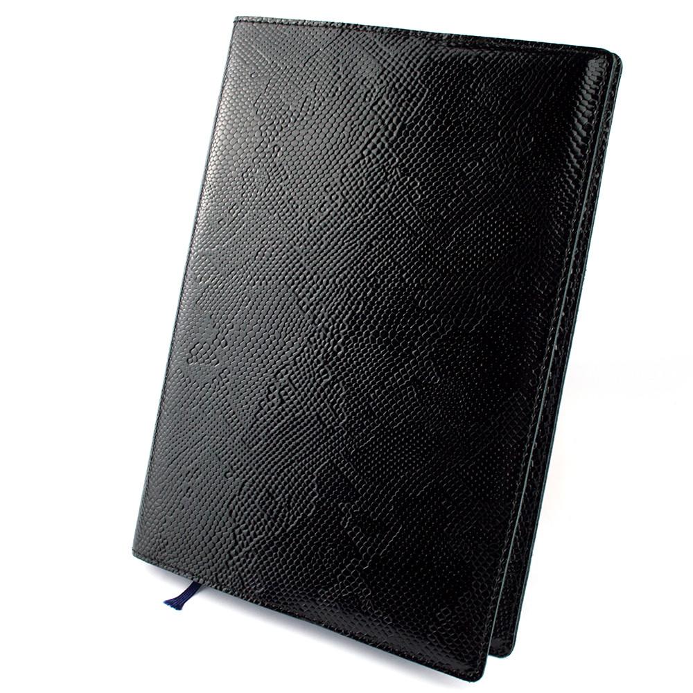 Обкладинка для щоденника / блокнота шкіряна ф. А5 Lika (чорний пітон)