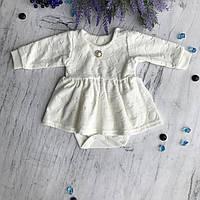 Боди платье на девочку 3. Размеры 68, 80, фото 1