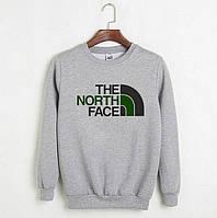 Мужской спортивный серый свитшот, кофта, лонгслив, реглан The North Face, Реплика