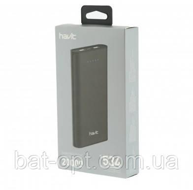 Портативное зарядное устройство HAVIT-H534 20000 mAh, чёрное