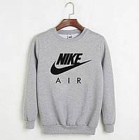 Мужской спортивный серый свитшот, кофта, лонгслив, реглан Nike Air, Реплика