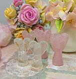 Ангелы пара   Статуэтка из розового кварца   Статуэтка ангел любви, фото 4