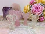 Ангелы пара   Статуэтка из розового кварца   Статуэтка ангел любви, фото 2