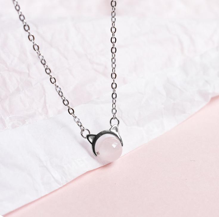 Срібна підвіска кулон Вушка в стилі Мінімалізм