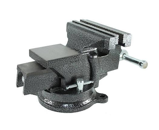 Тиски слесарные поворотные Polax 100 мм 25-099, фото 2