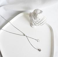 Срібна підвіска кулон Зірочка в стилі Мінімалізм, фото 1