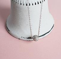 Серебряная подвеска кулон Мгновение в стиле Минимализм