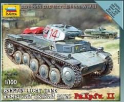Немецкий легкий танк PZ. KPFW. II. 1/100 ZVEZDA 6102