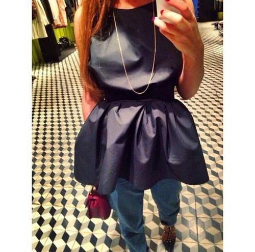 Стильная блуза с длинной баской