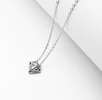 Серебряная подвеска кулон Кристал в стиле Минимализм, фото 1