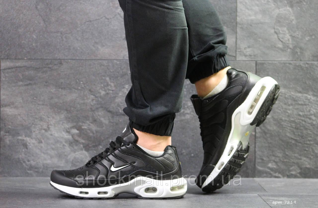 3f4b0146 Купить Кроссовки Nike Air Max TN мужские черные кожа Вьетнам реплика ...