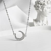 Серебряная подвеска кулон Луна в стиле Минимализм