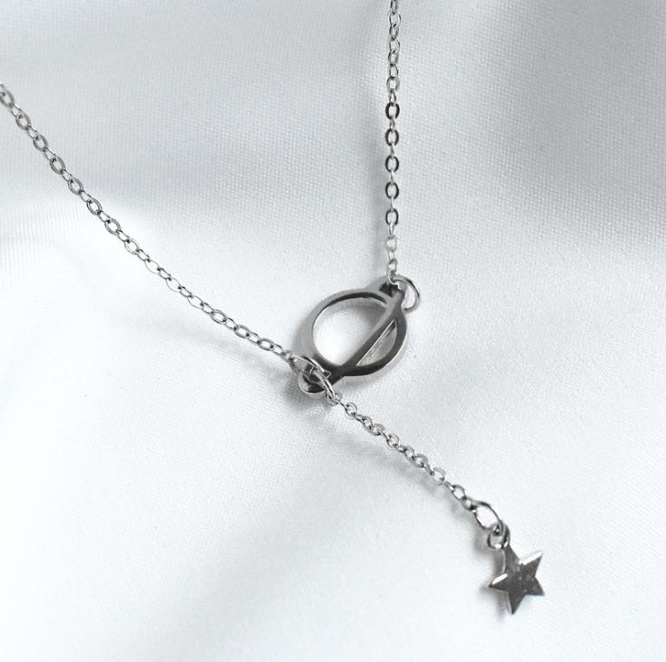 Срібна підвіска кулон Космос в стилі Мінімалізм