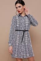Сукня-сорочка з софту з принтом пітона, фото 1