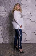 Жіночі брюки джинсові з оздобленням пайетка, з 42 по 82 розмір, фото 1