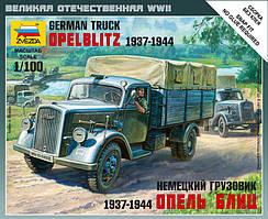 НЕМЕЦКИЙ ГРУЗОВИК ОПЕЛЬ БЛИЦ 1937-1944 1/100 ZVEZDA 6126