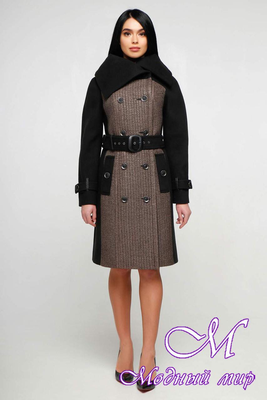 Женское пальто больших размеров весна осень (р. 44-54) арт. 1153 Тон 102