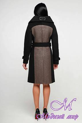 Женское пальто больших размеров весна осень (р. 44-54) арт. 1153 Тон 102, фото 2