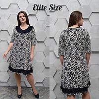 Летнее женское платье размер универсальный 52-58