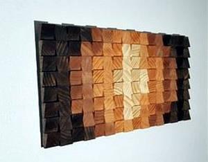 Панно из деревянных срезов