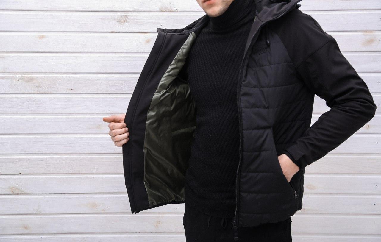 Куртка Pobedov Soft Shell Combi Black (осінь-весна)  продажа 3a26369ebad72