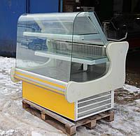 Холодильна вітрина кондитерська JBG» 1.4 м. (Польща), дуже широка викладка 80 см, Б/в, фото 1