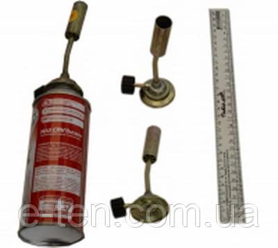 Горелка маленькая без пьезо поджига (под газовый баллончик 220г)