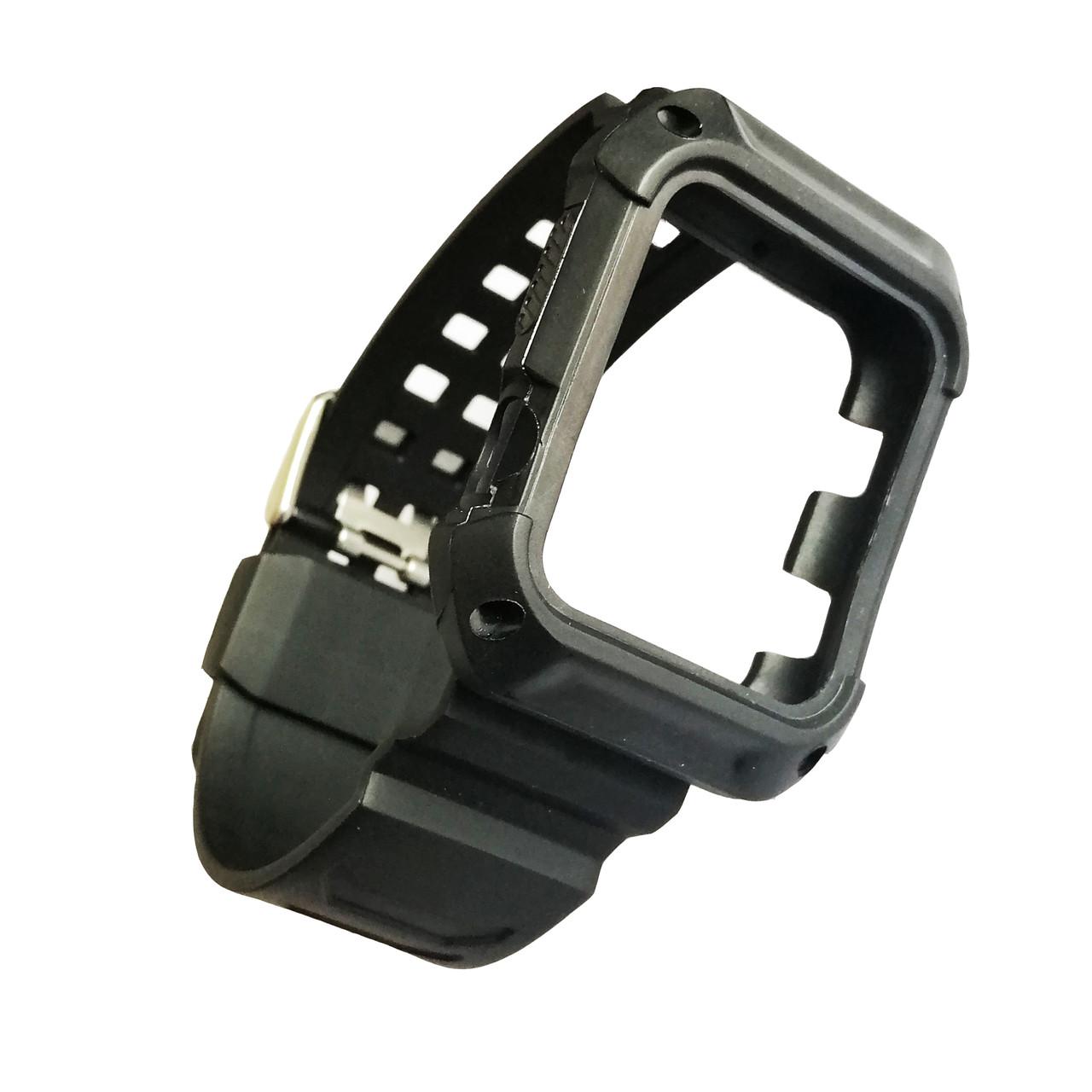 Ремешок + накладка Apple Watch SPORT 42/44 Silver