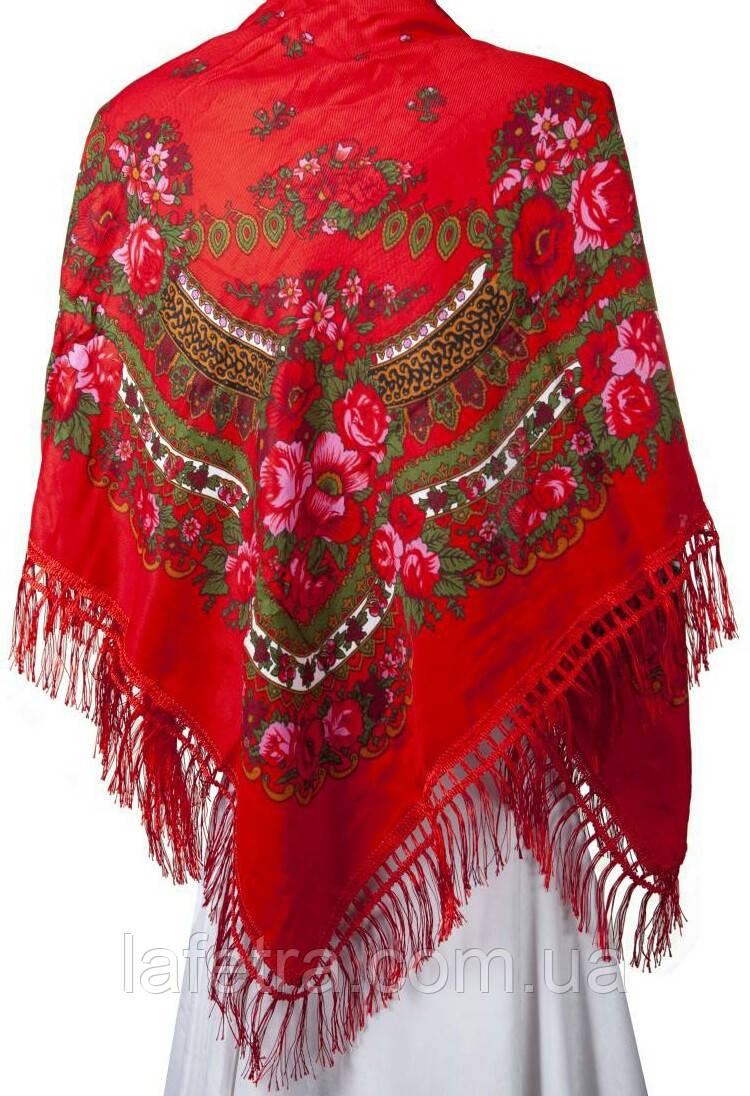 8b532e468568 Украинский Платок Красный С Бахромой 100 х 100 см