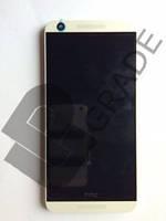 Дисплей для HTC 626G Desire Dual Sim + тачскрин. черный, с передней панелью белого цвета