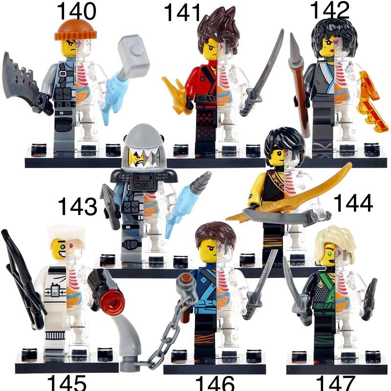 Новые Минифигурки ниндзяго ninjago Лего Lego Гармадон брелок фигурки дяпчики Гармадон скелеты