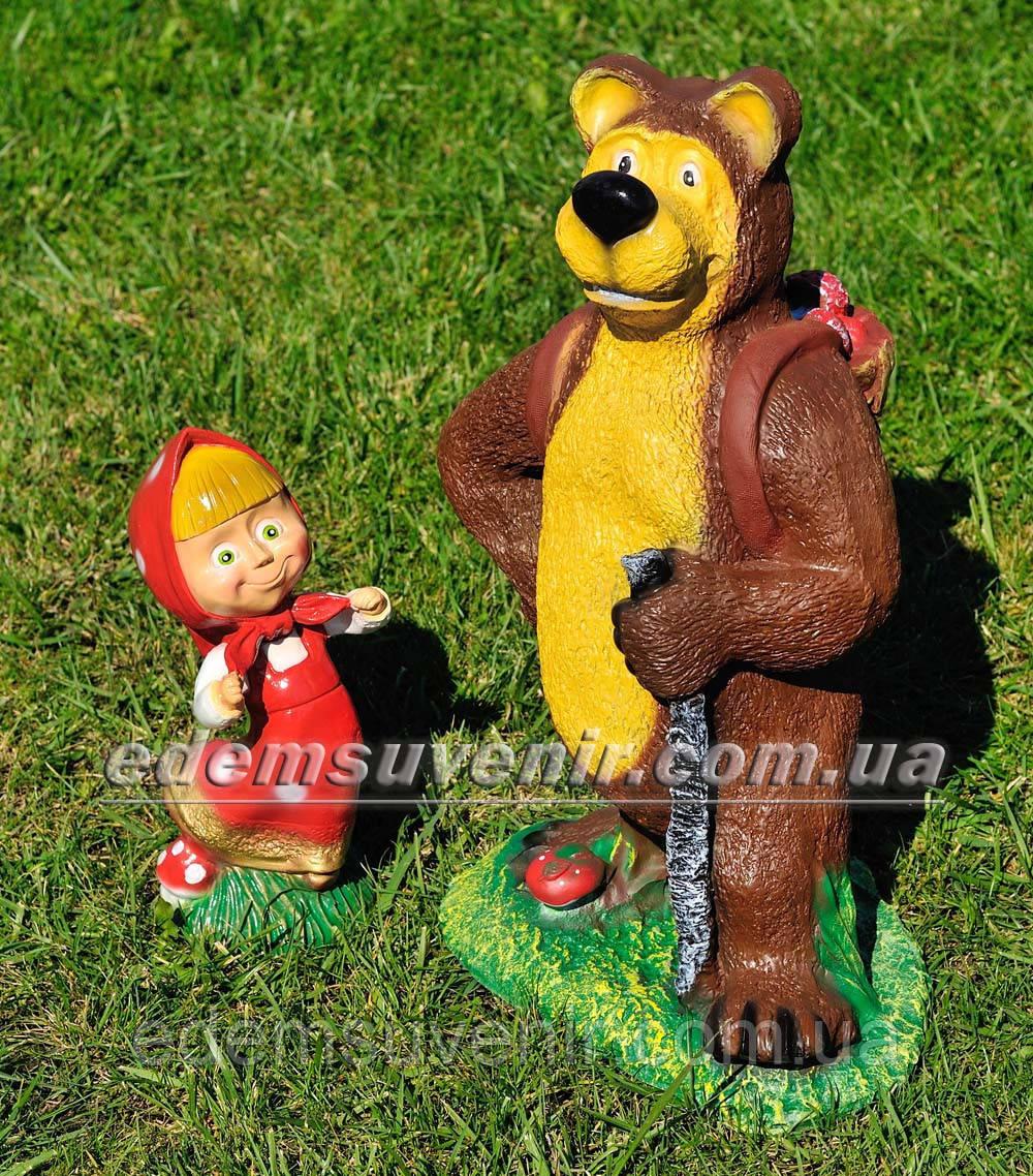 Садовая фигура Маша и Медведь