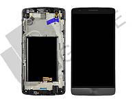 Дисплей (экран)  LG D724 G3 S Dual Sim + тачскрин (сенсор), серый, с передней панелью