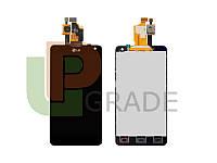 Дисплей (экран)  LG E971 Optimus G/E973/E975/E976/E977/E987/F180/LS970 + тачскрин (сенсор), черный, 130 x 68mm