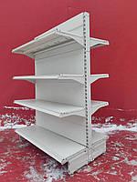 Торгові стелажі острівні (двосторонні) «Інтрак» 1 м. оцинкований метал Б/у, фото 1