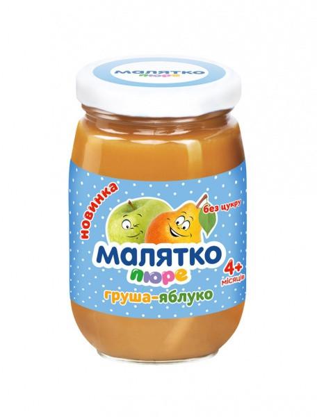 Пюре Малятко Груша-яблоко, 180 г