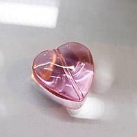 Бусина-сердце, цвет Light Rose, 18mm*1шт