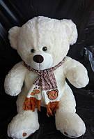 Белый Мишка 85 см в шарфе плюшевая игрушка хороший подарок для детей и взрослых