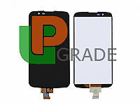Дисплей для LG K410 K10 Dual Sim/K420N/K430DS + тачскрин, черный, без микросхемы, оригинал (Китай)