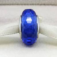 """Шарм бусина Pandora (Пандора) """"Муранское стекло граненый синий"""", фото 1"""