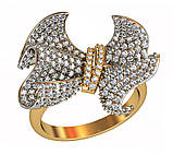 Кольцо  женское серебряное Бриллиантовый бант 112 090, фото 2