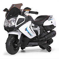 Детский мотоцикл Bambi M 3625 EL-1 BMW, черно-белый