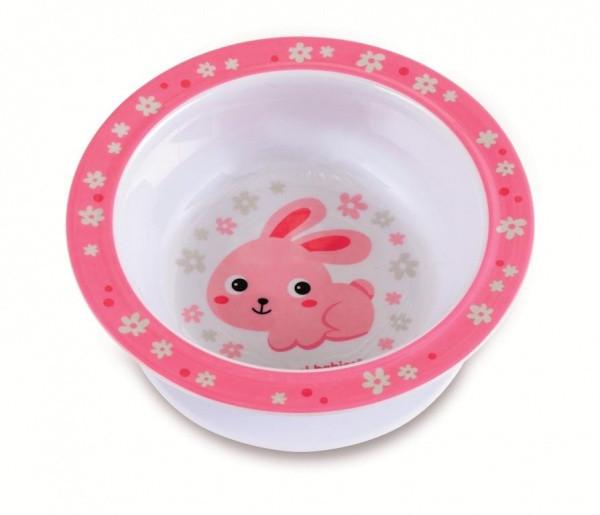 Тарелка Canpol babies на присоске Зайка (4/519 Розовый)