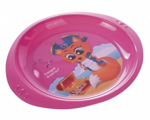 Тарелка Canpol babies Лиса пират, розовый (4/406 Розовый)