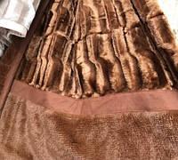 Покрывало на кровать меховое Норка 200х230 цвет шоколад