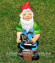 Садовая фигура Гном кузнец и Мотылек Кузя, фото 3