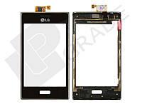Тачскрин для LG E610 Optimus L5/E612, черный, с передней панелью