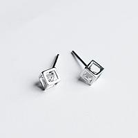"""Срібні Сережки Гвоздики Пусети """"Геометрія"""", фото 1"""