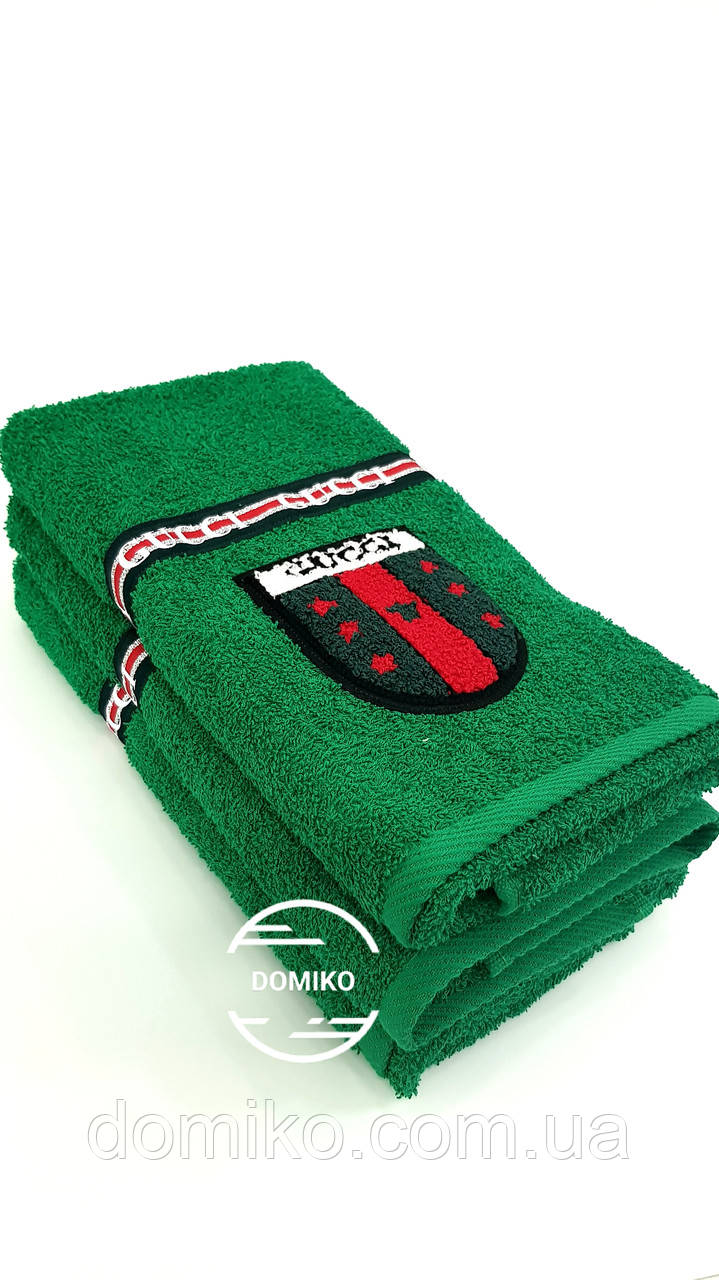Махровое полотенце 50*90 Gucci зеленое