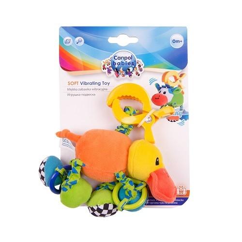 Іграшка м'яка вібруюча Canpol Babies, качечка (68/010)
